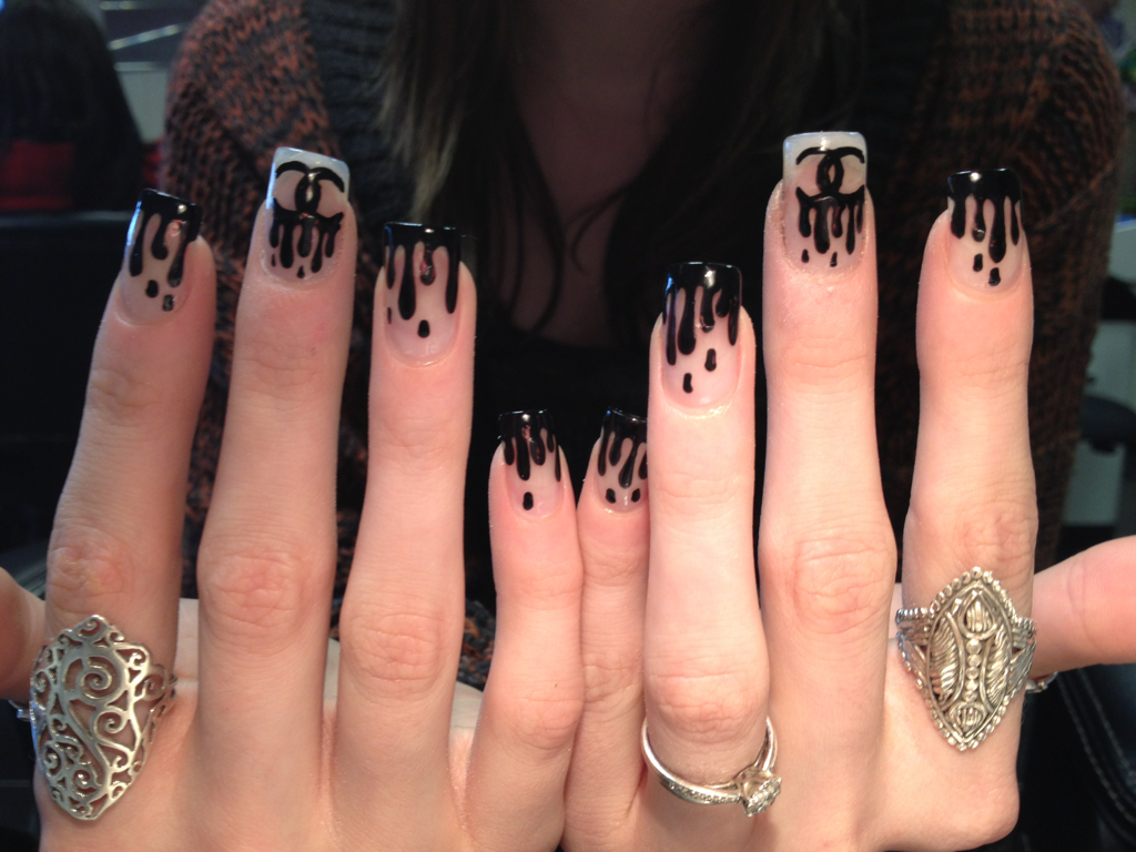 Chanel nails! Aren't they cool?!