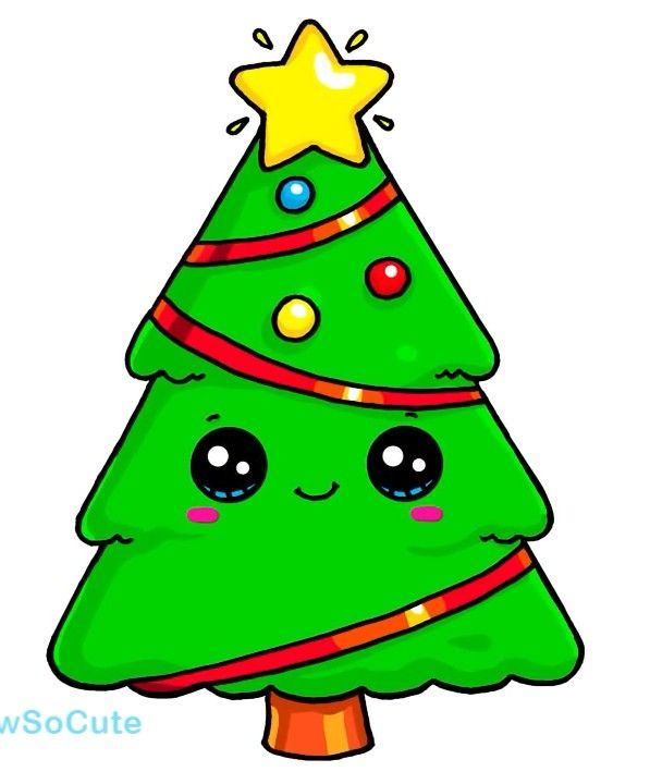 Drawsocute By Wennie It S A Xmas Tree Drawings In 2019 Dessin Kawaii 365 Dessins Kawaii Dessin Emoji