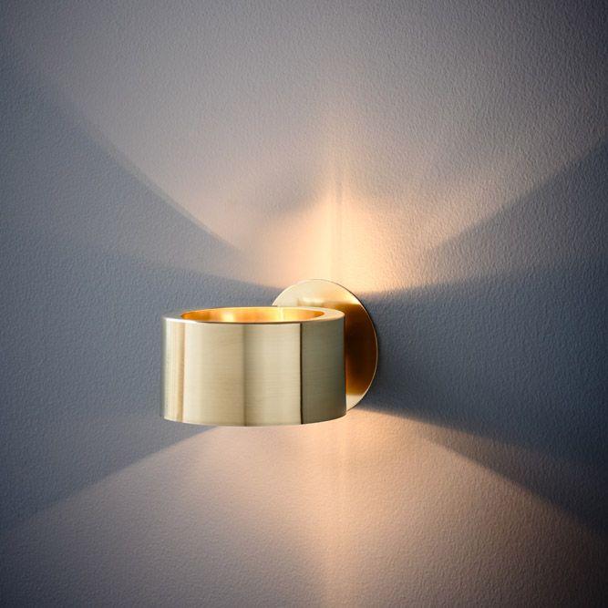 Humble Wall Light Brass Auhaus Architecture Brass Wall Light Wall Lights Led Wall Lights