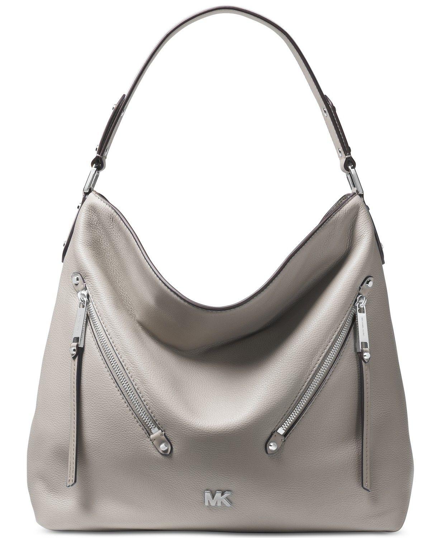 c0756f18aaf8 Michael Kors Evie Pebble Leather Hobo - Handbags   Accessories - Macy s