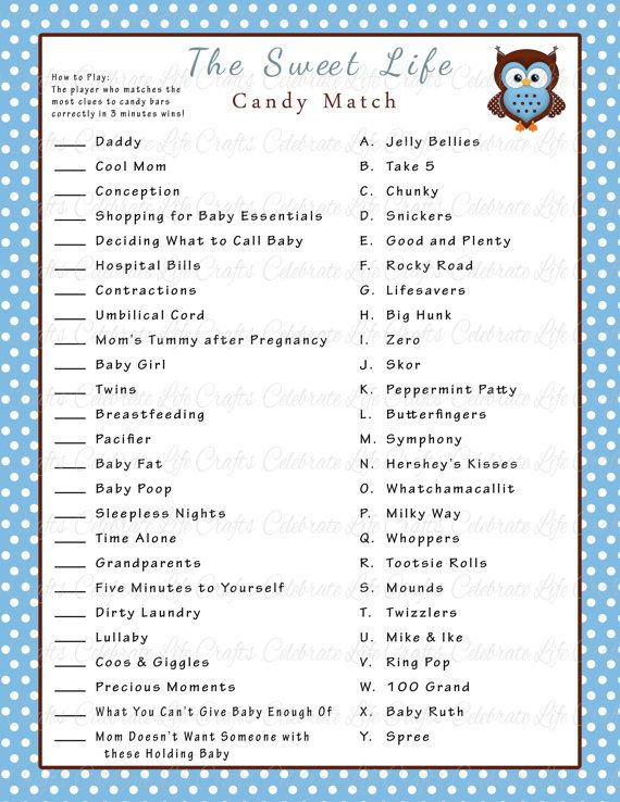 graphic relating to Baby Boy Shower Games Free Printable named Boy or girl Shower Cute Lifetime Sweet Bar Video game Sport - Printable Little one