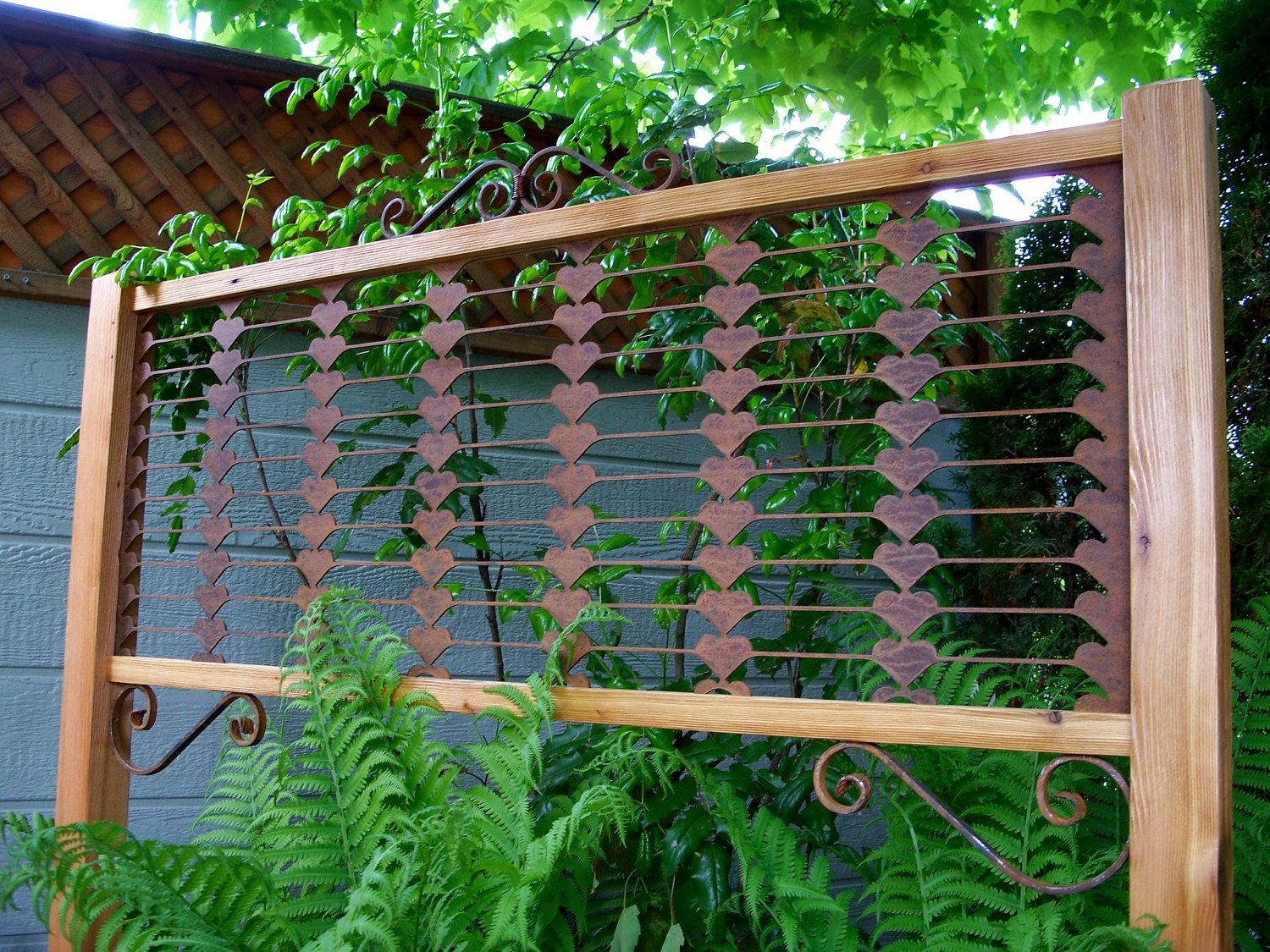 Delightful Garden Decor Garden Screen Trellis Garden Art By MiscKDesigns