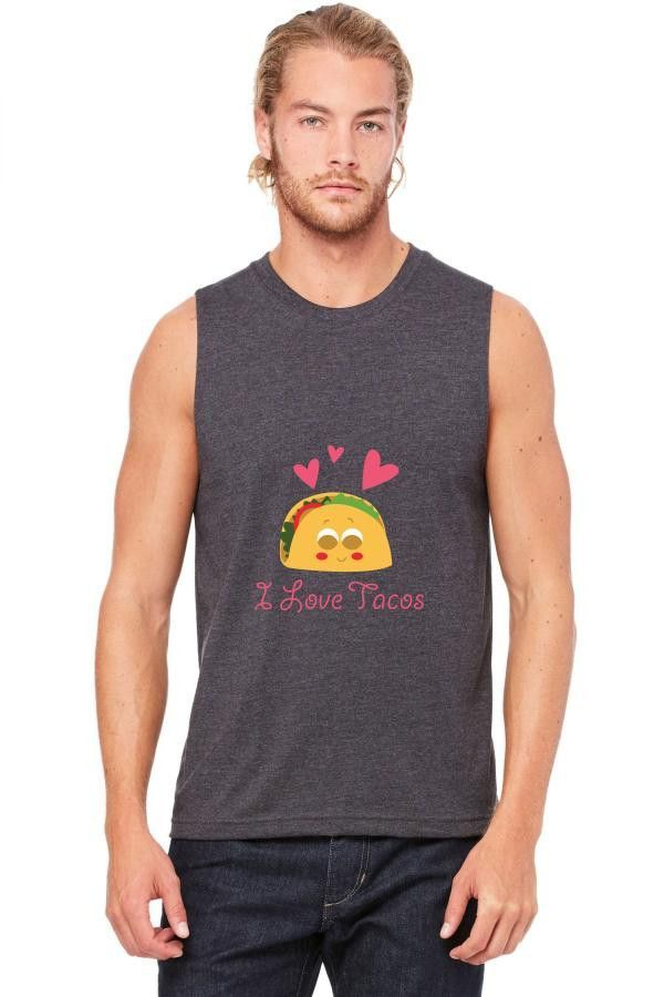 taco mexican i love tacos Muscle Tank