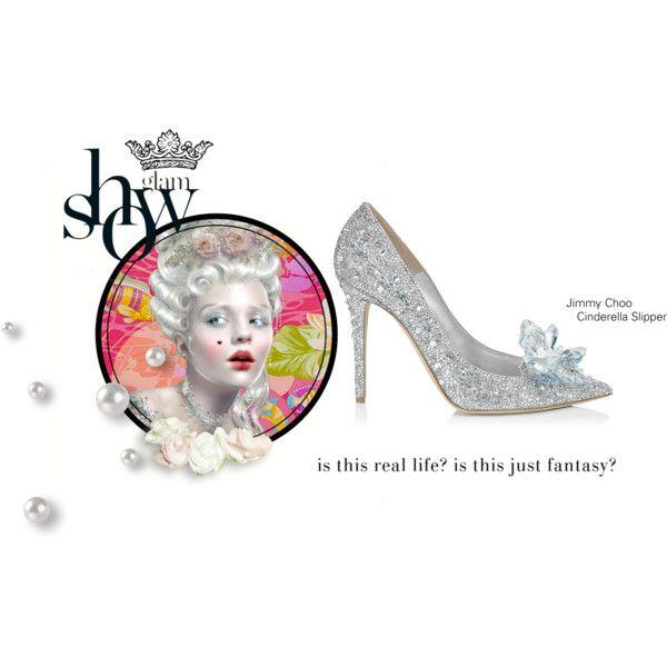 Cinderella Slipper set Polyvore.com.