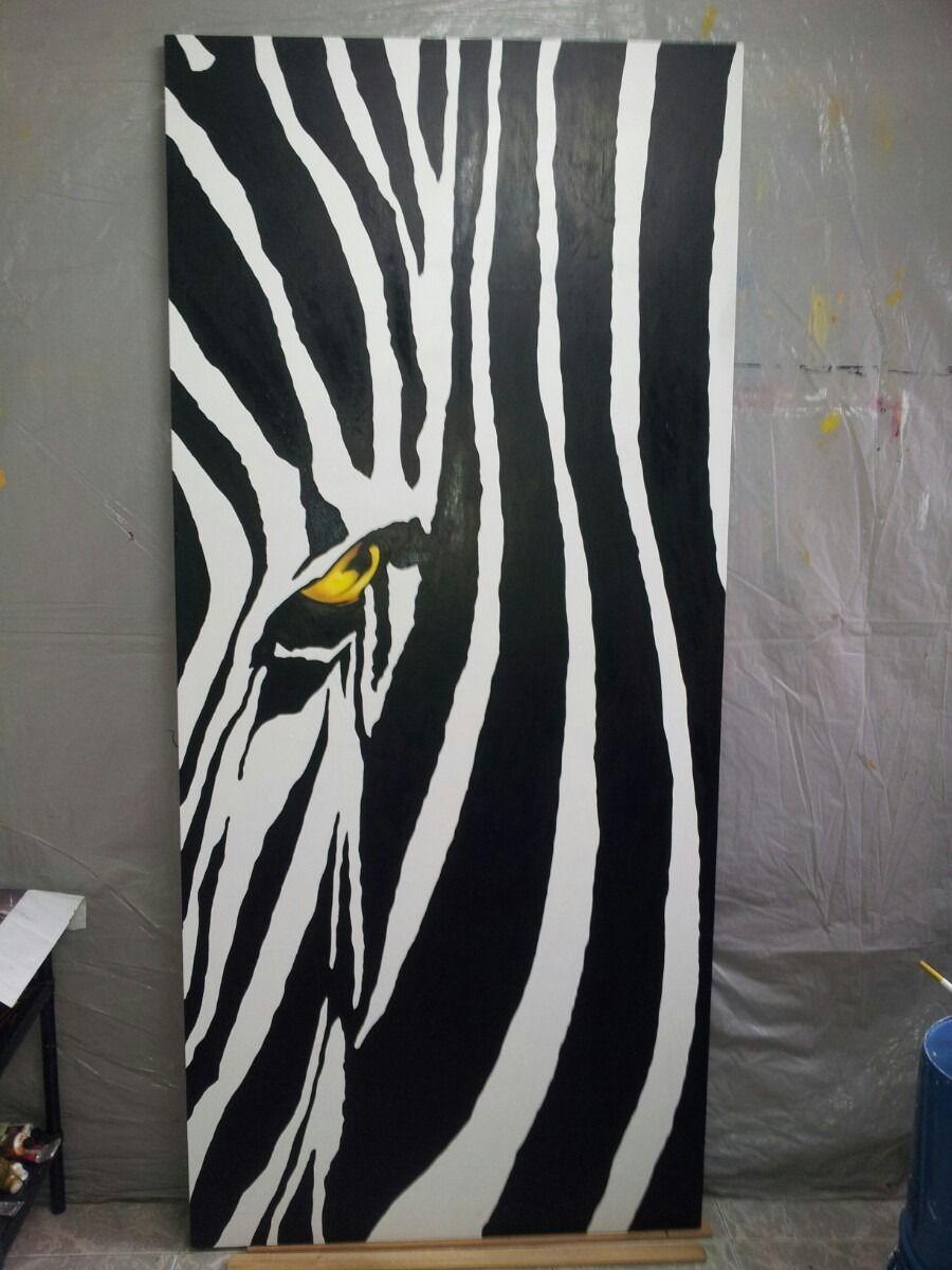 cuadro abstracto moderno zebra blanco y negro | cuadros | Pinterest ...