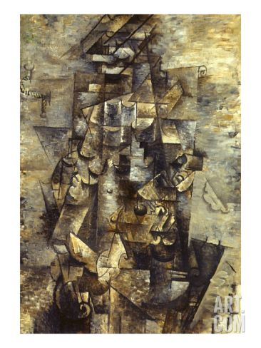 Braque Man With A Guitar Art Print By Georges Braque At Art Com