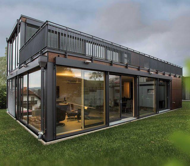 Modern German Modular Buildings: Prefab Homes and Offices : Modern Prefab Modular Homes - Prefabium