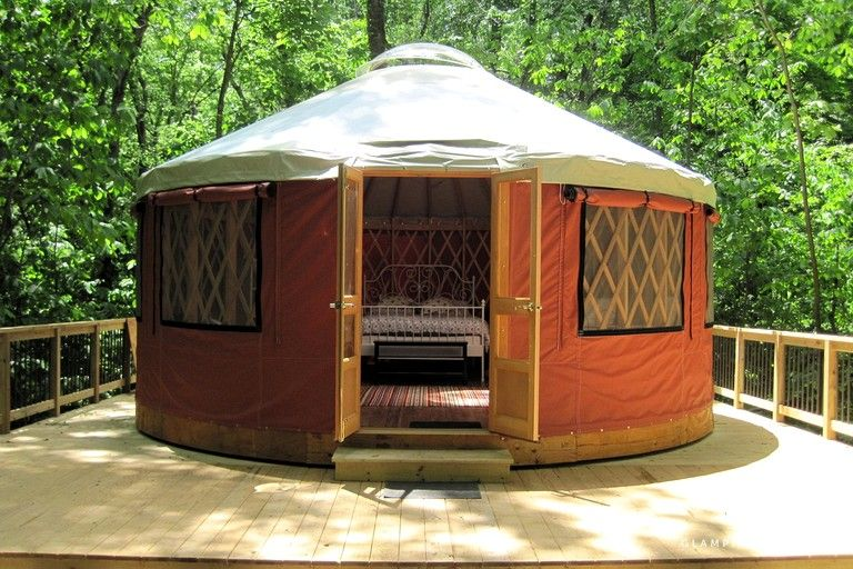 Riverside Yurt on Family-Friendly Glamping Site, West ...