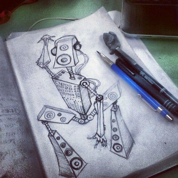 Sketching Robots // Photo by iamthecarpenter via #instagram #rmcad