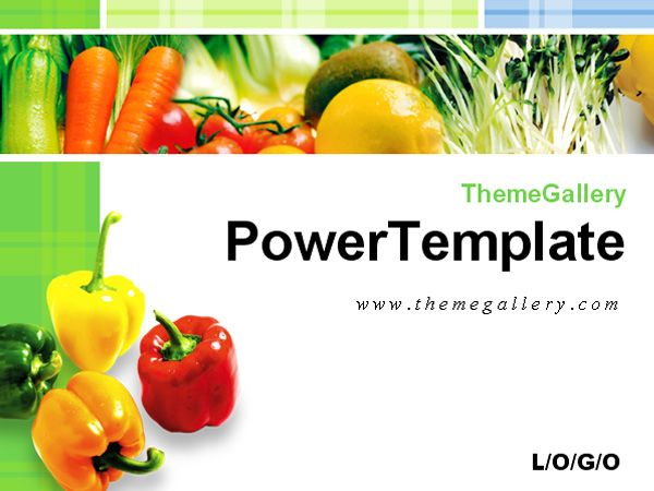 Fresh Vegetables Food Ppt Template Download Powerpoint
