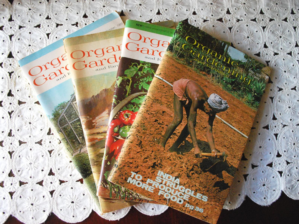 Organic Gardening Magazines Set Of Four Vintage Gardening