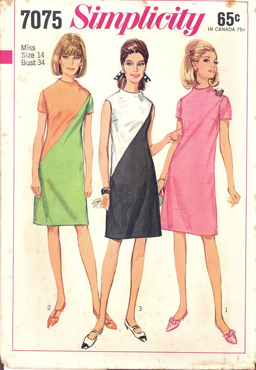 Uncut 1967 Vintage Simplicity Pattern 7075 by NeedleArtSupplies, $5.00