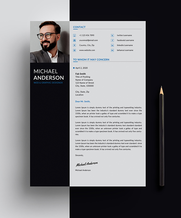 Free Resume + Cover Letter Templates (PSD) in 2020