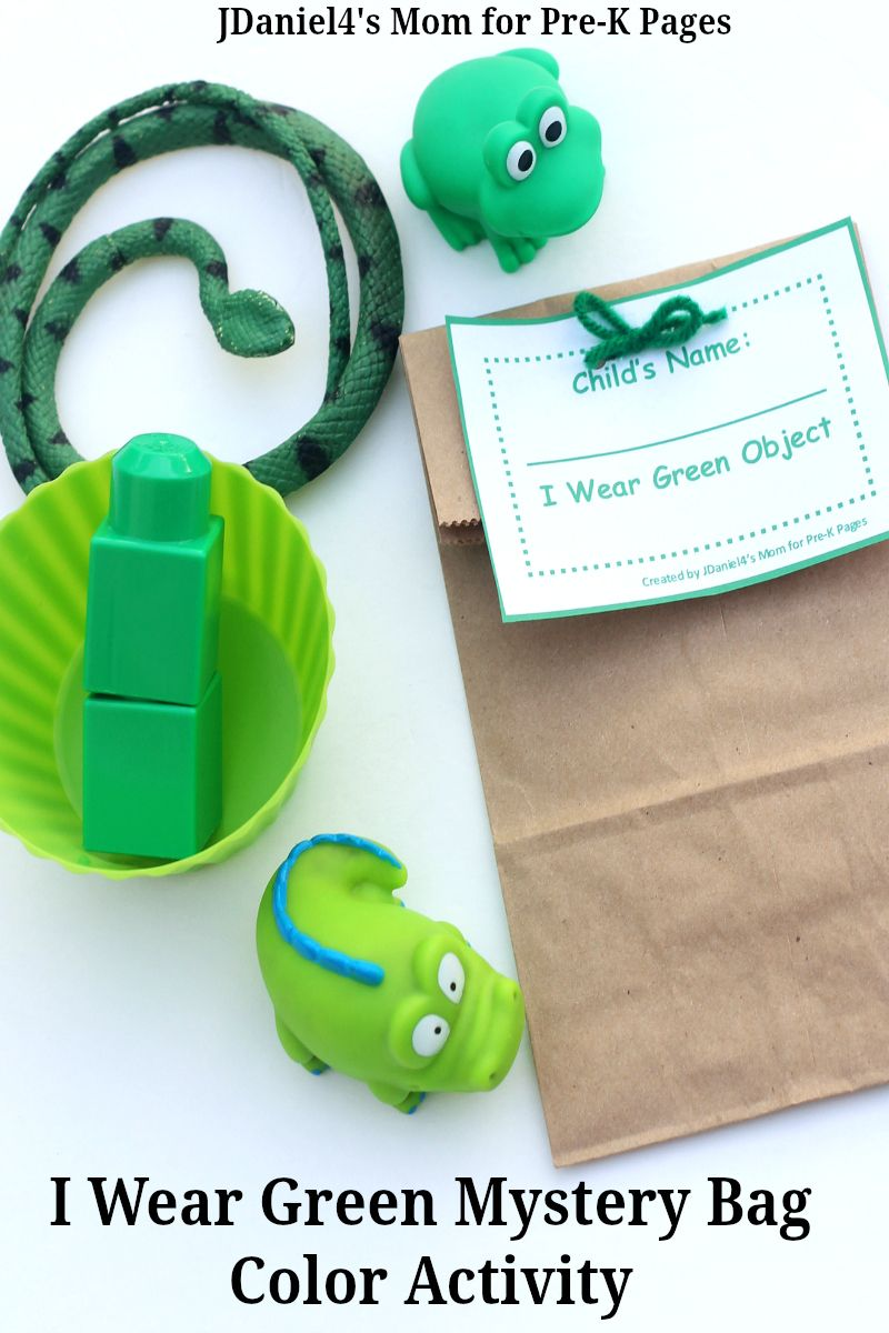 Green Mystery Bags | Color activities, Mystery and Activities