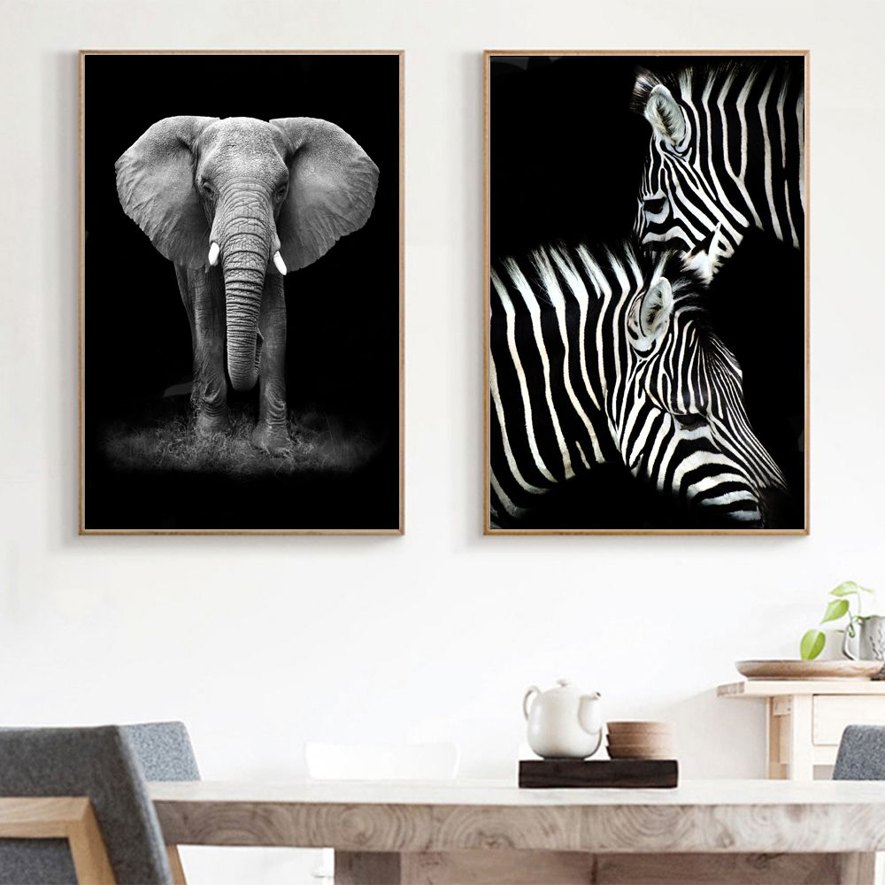 Elephant Portrait Canvas Picture Giclee Print Unframed Home Decor Wall Art
