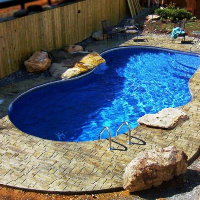 Small Home Swimming Pool. Nice Size And Surroundings (With