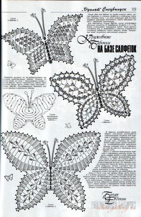 mariposa | Mariposas | Pinterest | Mariposas, Ganchillo y Tejido