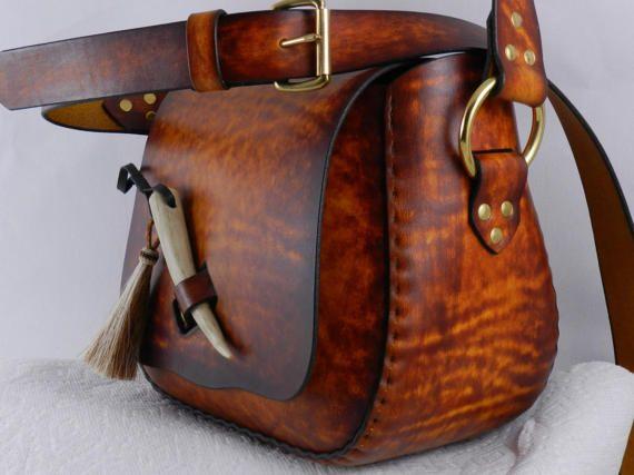 Spacious Handmade Latigo Leather Travel / Utility / Tote /