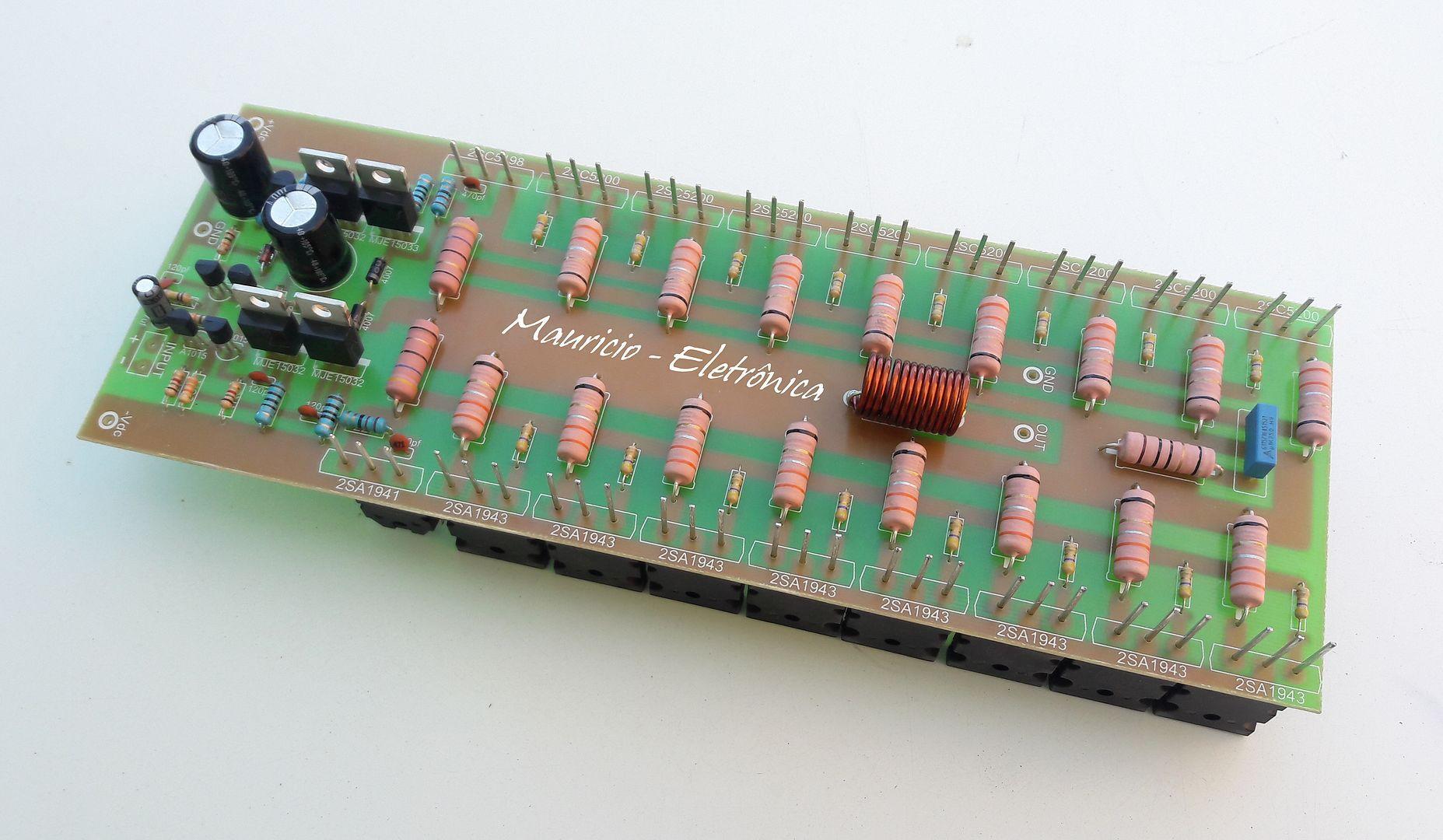 Kit Placa Componentes Para Montar Amplificador 1600w 2 Ohms Kit