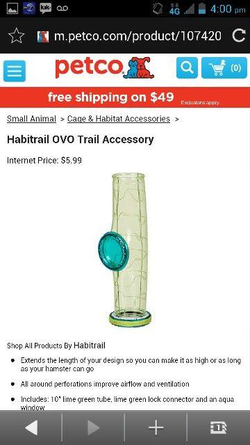 Habitrail Ovo Trail Accessory Small Pets Animal Habitats Petco