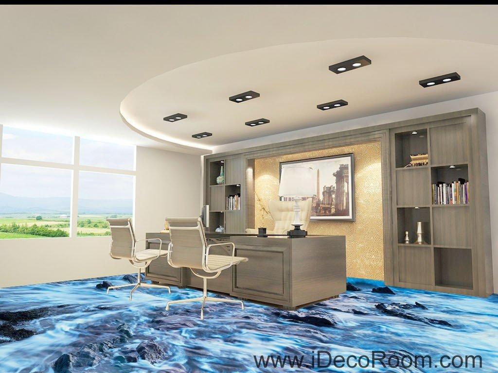 Sea Bubble Beach Ocean Rocks 00041 Floor Decals 3D Wallpaper Wall Mural  Stickers Print Art Bathroom Decor Living Room Kitchen Waterproof Business  Home ...