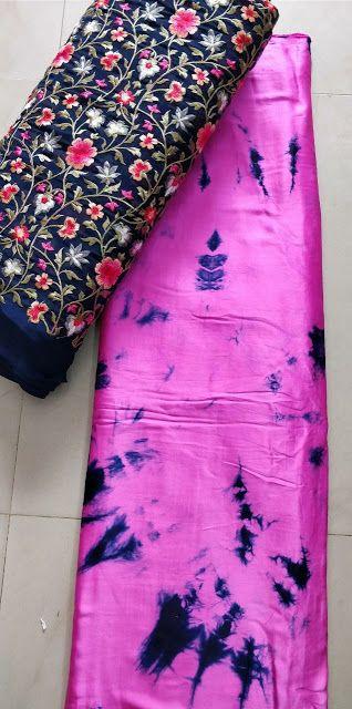 4c449ef5e728b Satin shibori saree with designer blouse