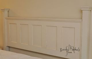 Headboard out of an old door by candi.reeder.1