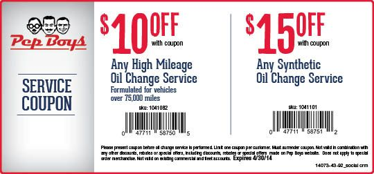 Synthetic Oil Change Coupons >> 10 Off High Mileage Oil Change Or 15 Off Synthetic Oil