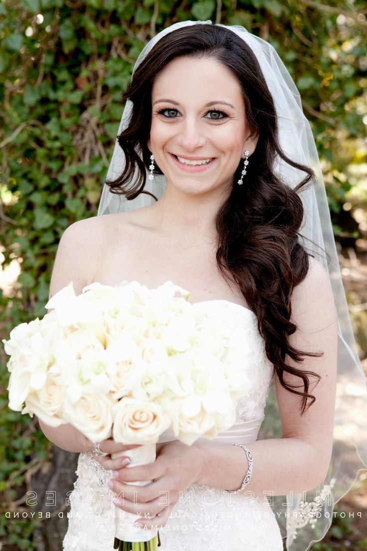Side Ponytail Wedding Hairstyles With Veil Side Ponytail Wedding