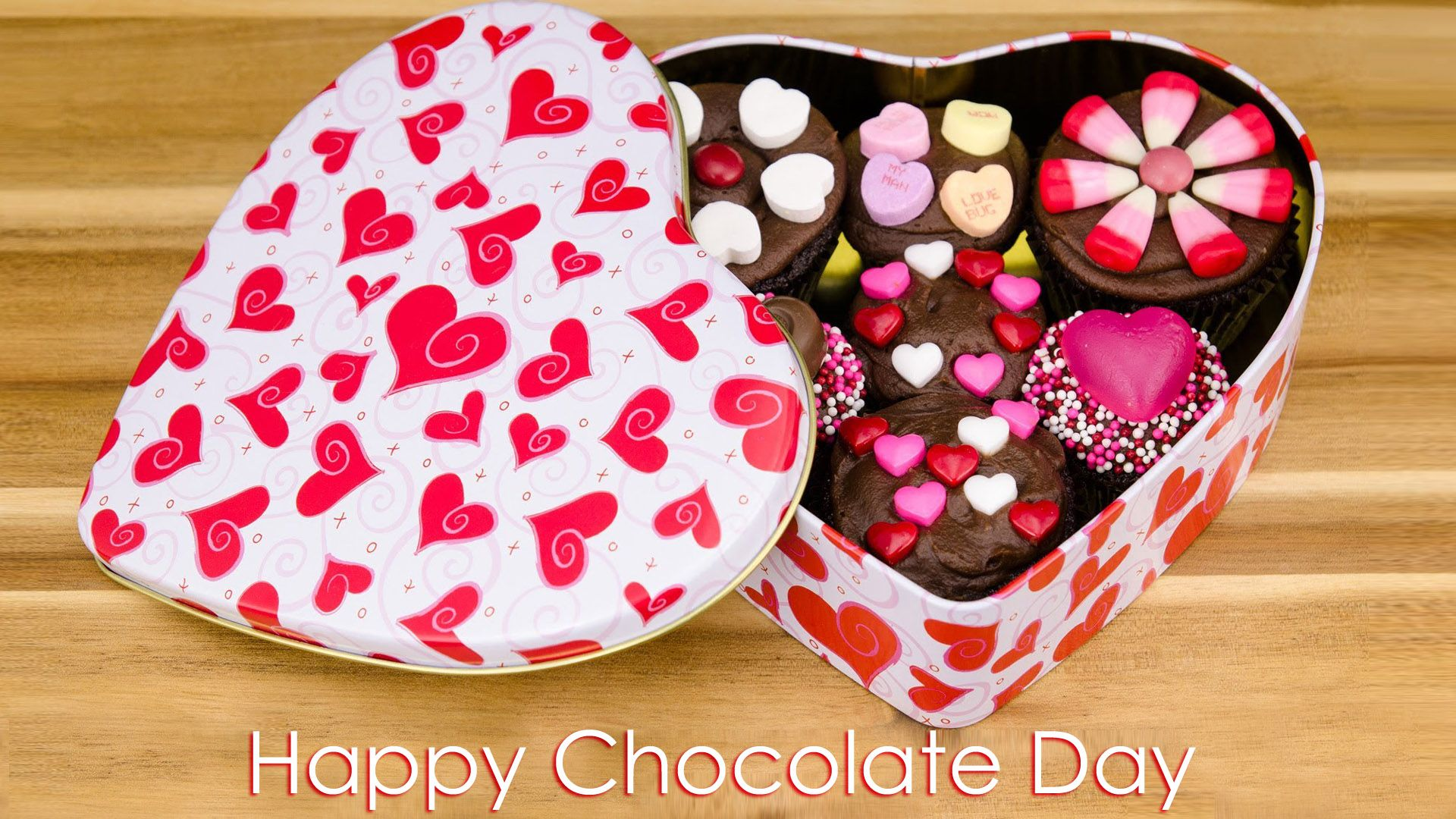 Happy Chocolate Day Hd Wallpaper Dazzling Wallpaper Happy Chocolate Day Chocolate Day Valentine Day Cupcakes Happy romantic chocolate day images for