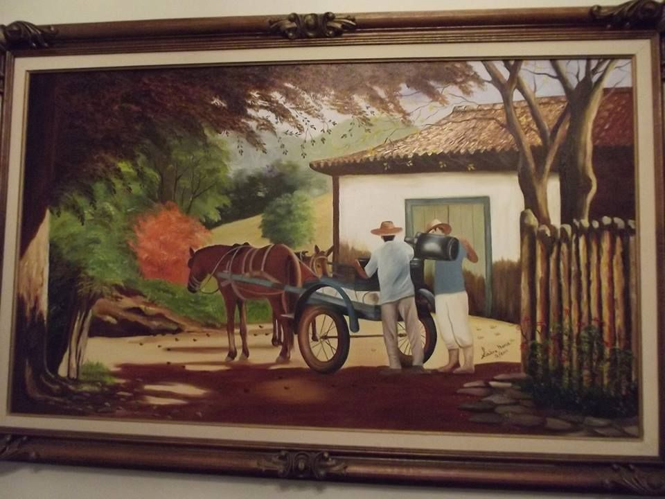 ÓLEO SOBRE TELA RELEITURA DE UM GRANDE ARTISTA BRASILEIRO JOSÉ ROSÁRIO-Gelda Alvarenga-Brasil