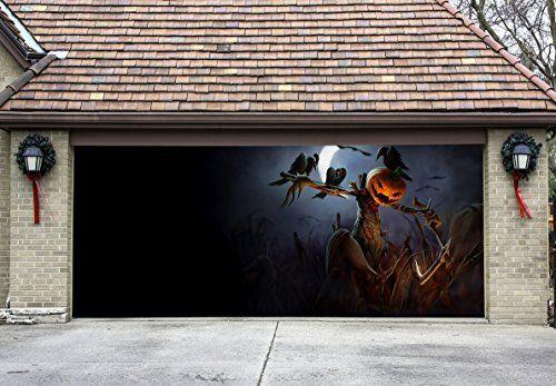 Garage Door Decorations - Halloween Decor for Garage Door Outdoor - halloween garage ideas