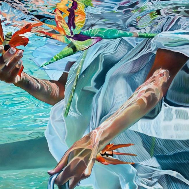 pittura-iperrealista-donne-in-acqua-josep-moncada-11.jpg (650×650)