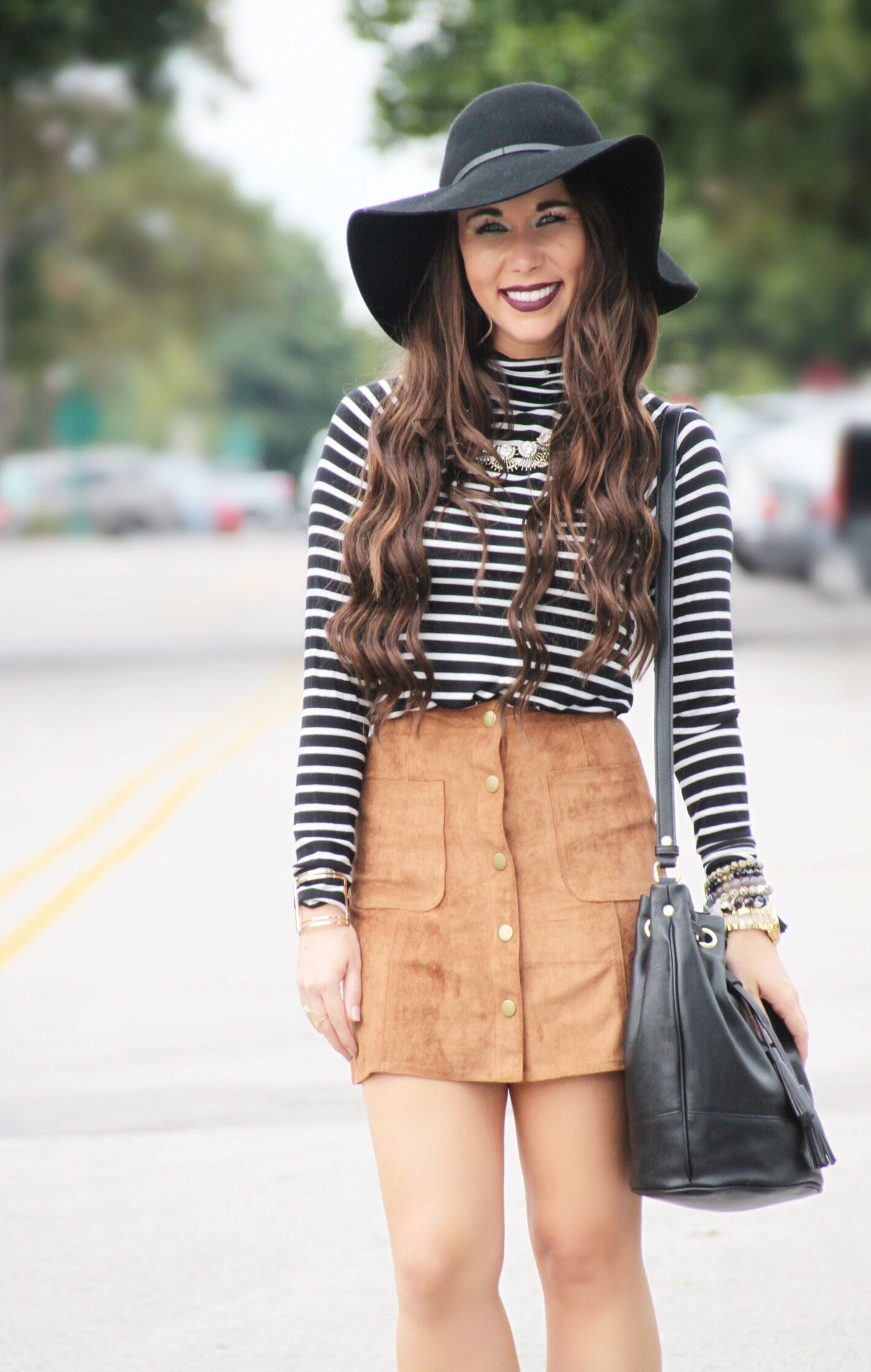 28756b0ec10c Suede Skirt - Fall Outfit