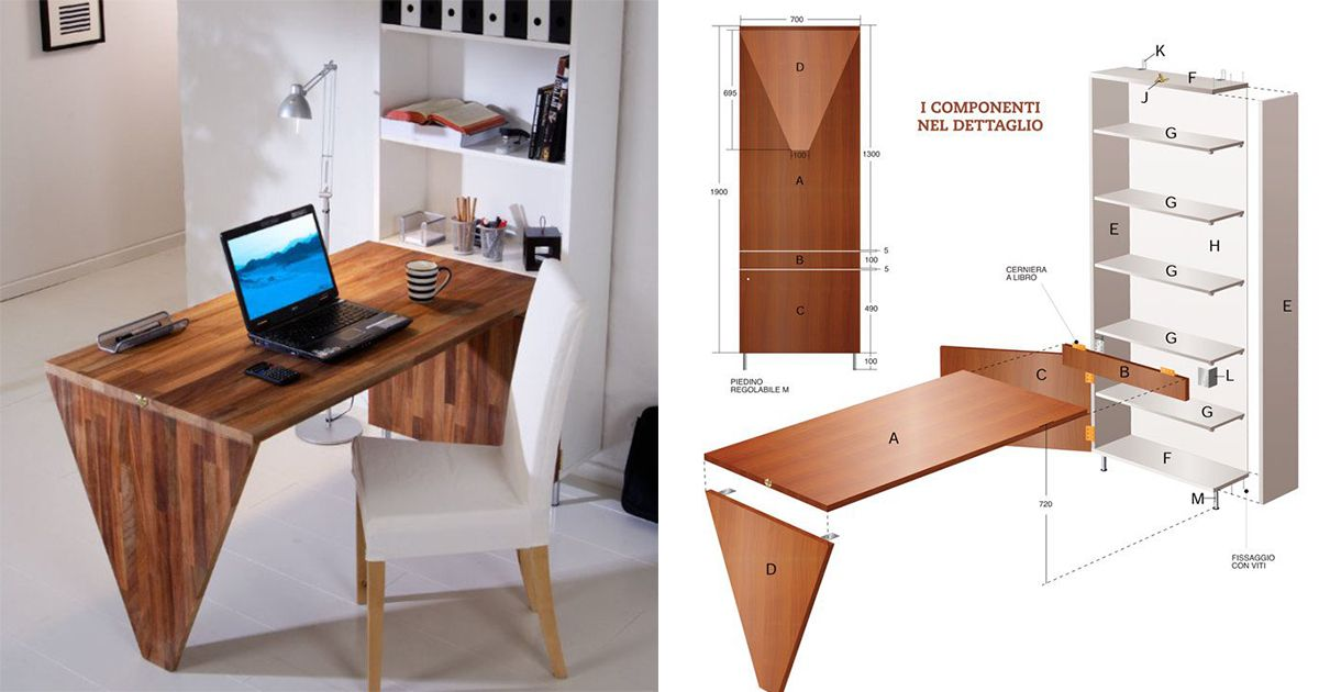 Una scrivania con ribalta wastepipes