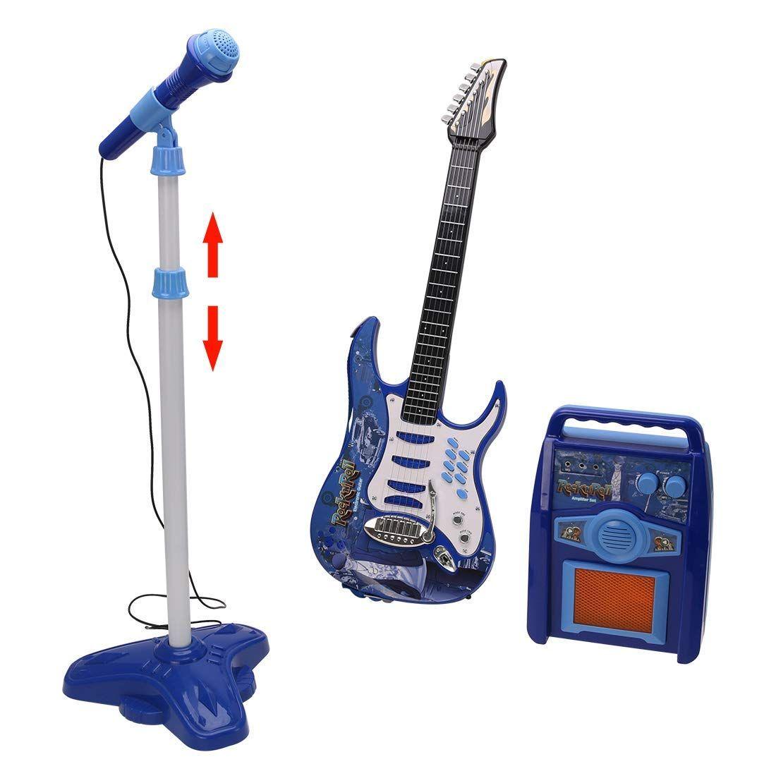 Tosbess Juguete Musical Guitarra Micro Bafle Electrónico Flash Amazon Es Juguetes Y Juegos Musicales Para Niños Karaoke Juguetes Musicales