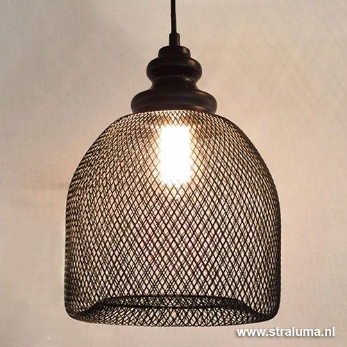 gaas hanglamp karlijn zwart woonkamer lampem