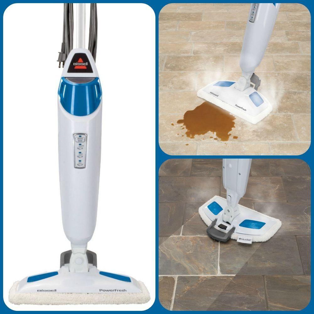 Powerfresh Steam Mop Sanitized Kitchen #Bathrooms Mop Pads #Scrubber Floor Clean #Bissell