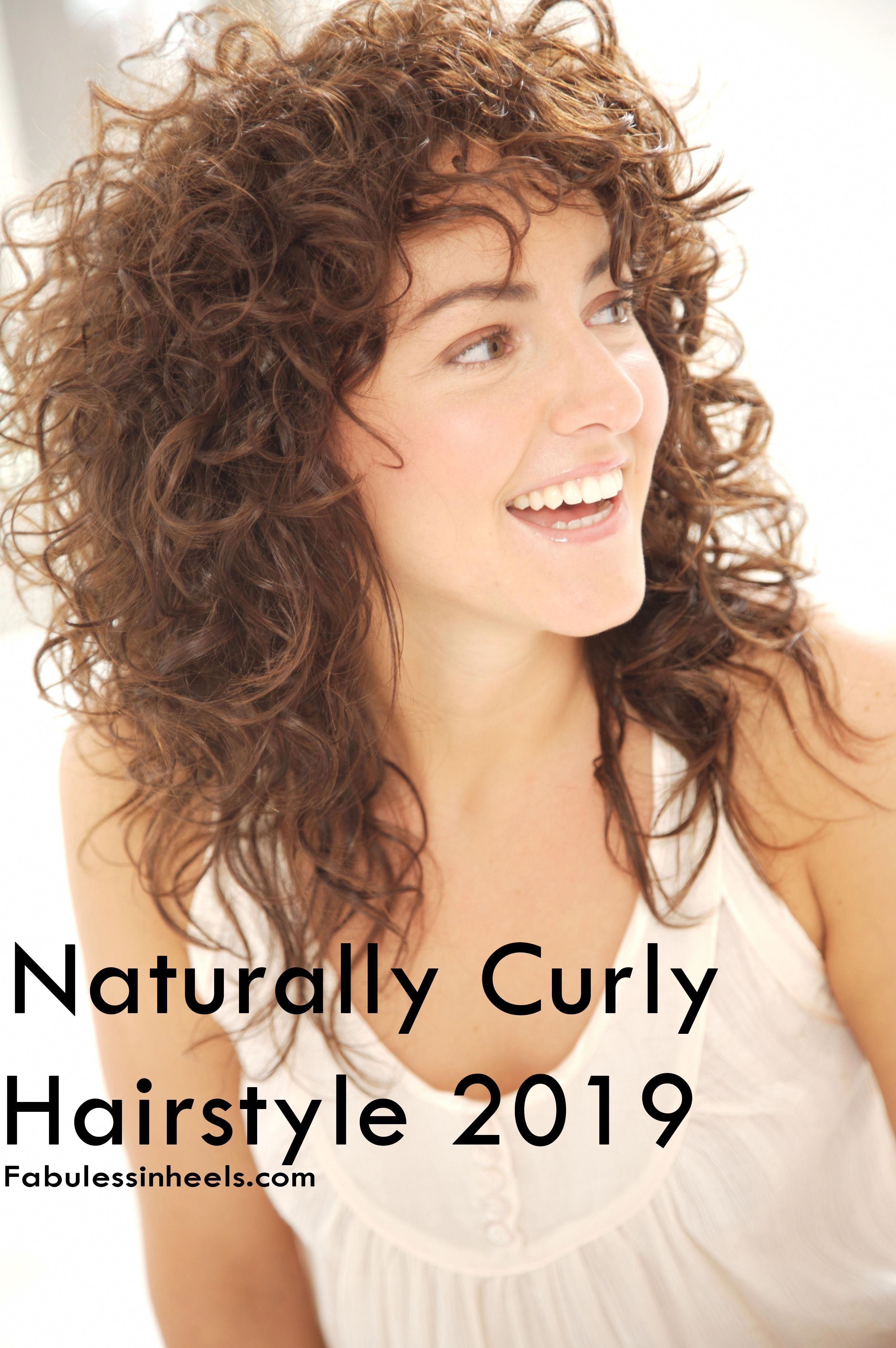 Naturally Curly Hair 2019 For Womens With Medium Length Hairstyle Hairstyleforwomen In 2020 Shoulder Length Curly Hair Curly Hair Styles Naturally Curly Hair Styles