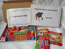 Retro Sweets Gift Box Graduation FREE personalised message(45 sweets)