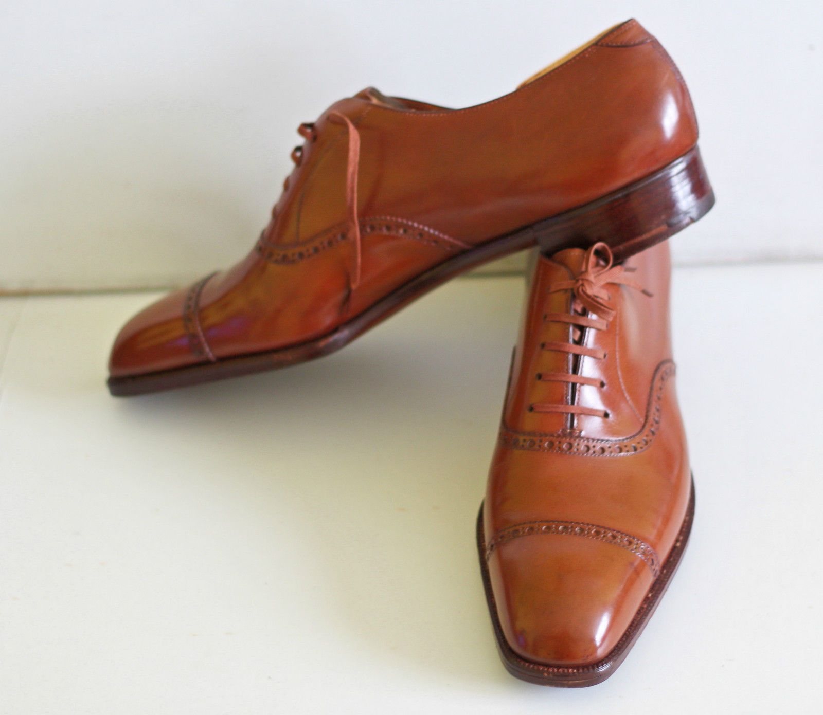 James Noir De Oxfords En Cuir De Veau George De Cleverley VPKU8zL