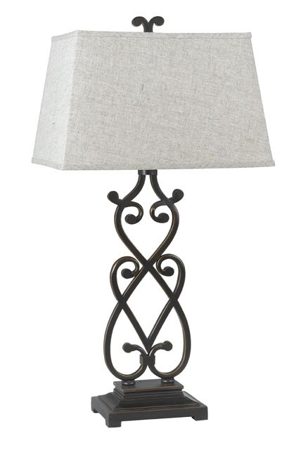 Wrought Iron Scroll Table Lamp In Matte Black Finish Iron Lamp Lamp Bronze Table Lamp