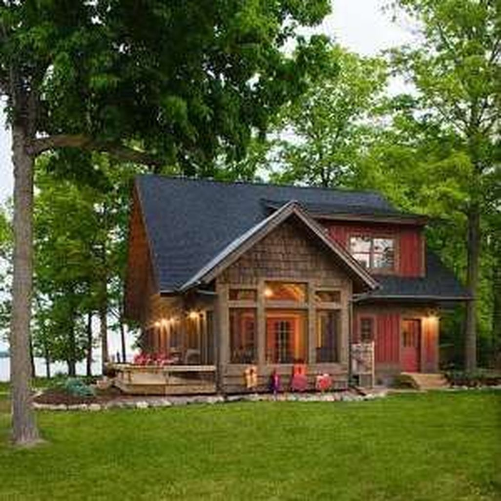 Nice Small Cabin Design Lake House Plans Courtyard House Plans Modern Lake House