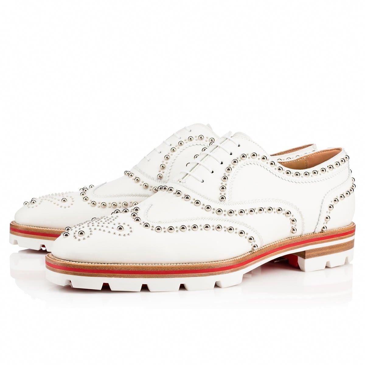 1c9ed57e10de CHRISTIAN LOUBOUTIN Crapamale Flat Latte Silver Leather - Men Shoes - Christian  Louboutin.  christianlouboutin  shoes