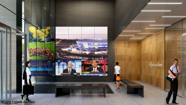 Media Wall With Images Corporate Interior Design Digital