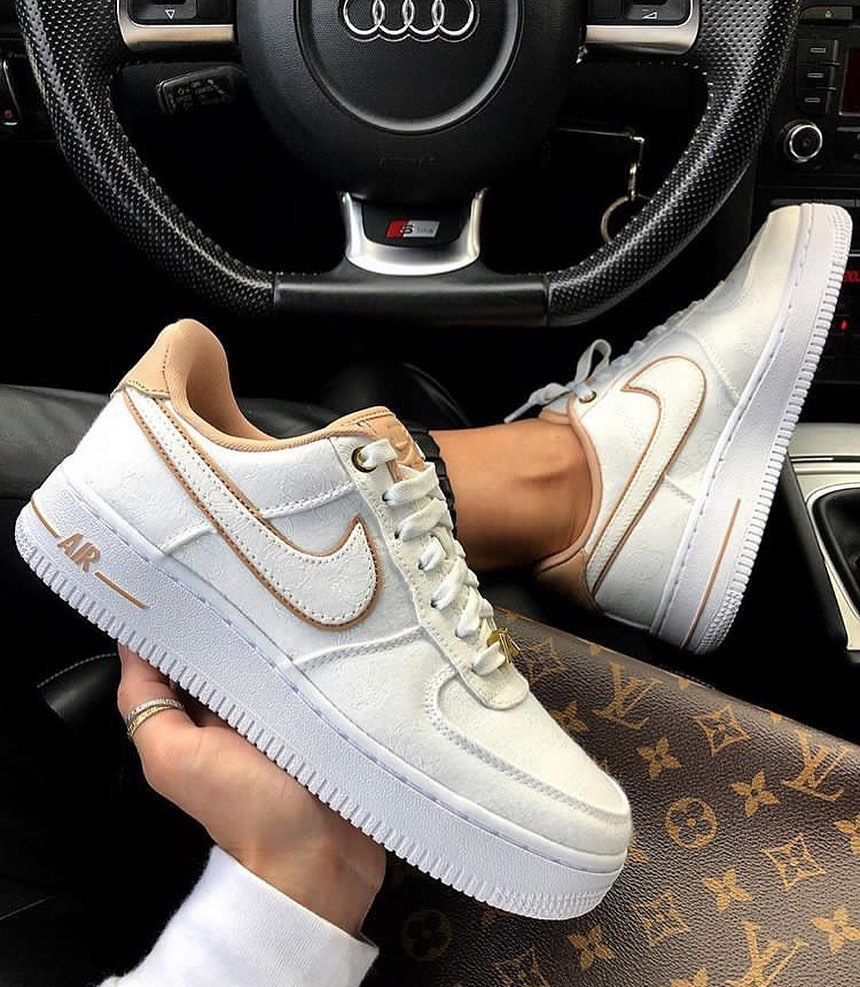 AIR FORCE 1 '07 LX - Sneaker low - white/beige/metalic gold ...