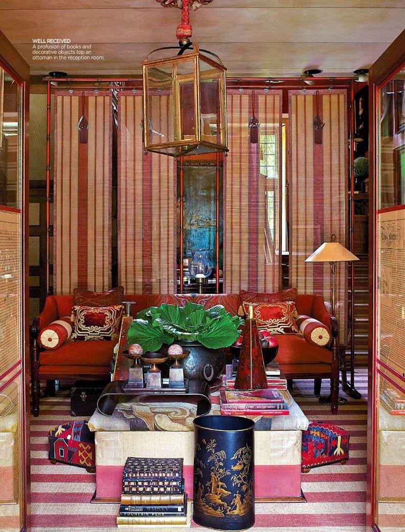 Bohemian style living room from British designer Anouska Hempel ...