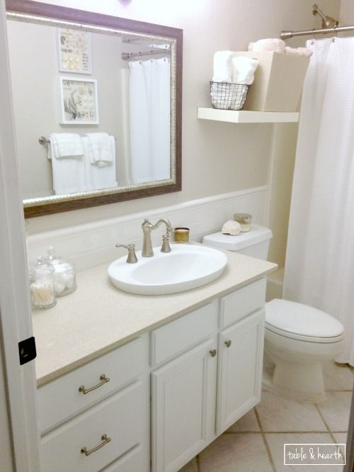 Beautiful A Bright Clean And Relaxing Coastal Guest Bathroom - Bathroom updates on a budget