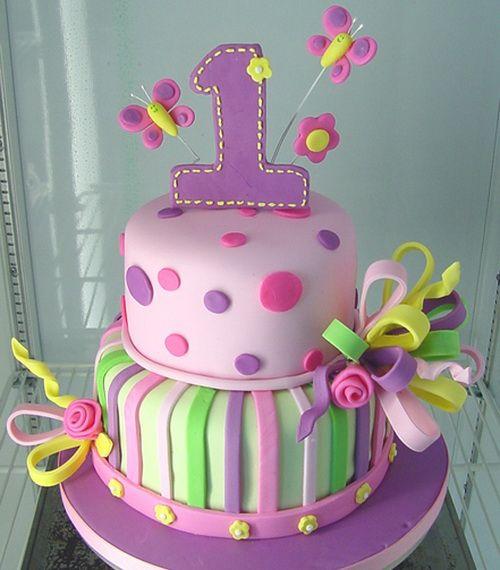 first birthday purple cake for girls First Birthday Cake Ideas