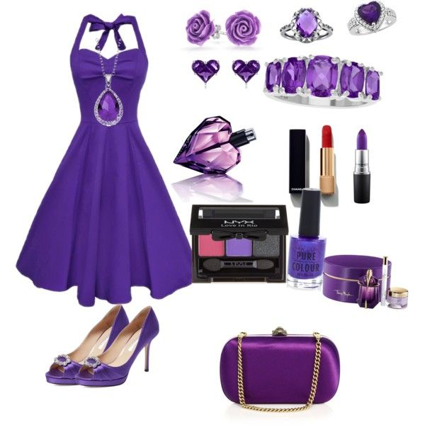 purple by elimedinacibeira on Polyvore featuring polyvore beauty Chanel MAC Cosmetics NYX Thierry Mugler Diesel New Look Effy Jewelry City Rox Bling Jewelry Gucci Oscar de la Renta